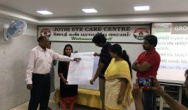 Training at Jothi Eye care